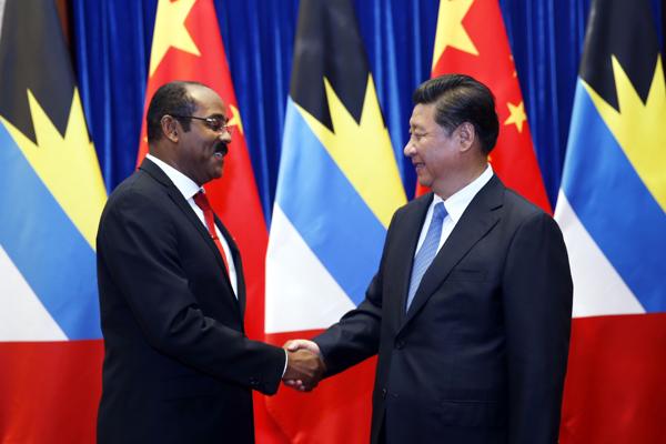 Xi meets Antigua and Barbuda PM, pledging closer cooperation:null