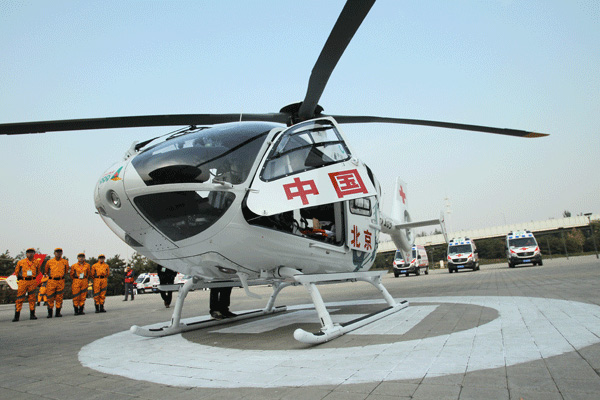 Lift-off for first 'air ambulance':null