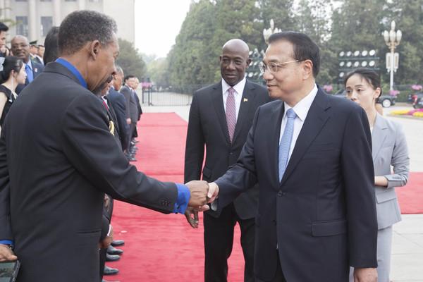 Premier Li welcomes Trinidad and Tobago PM:null