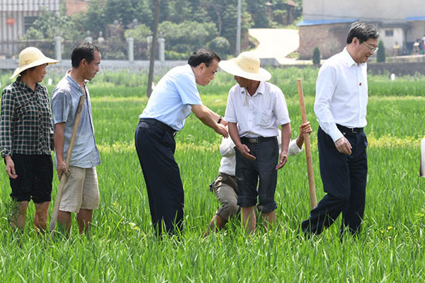 Premier Li inspects agricultural production in Hunan :null