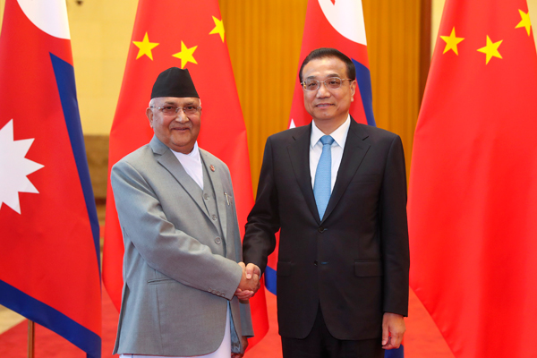 Premier Li welcomes Nepal's PM to Beijing:null