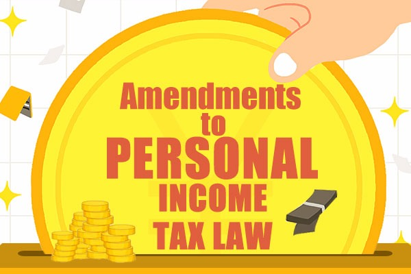 Amendments to personal income tax law:null