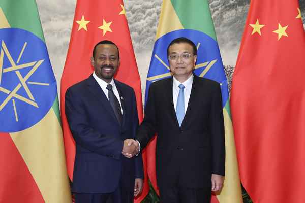 Premier Li welcomes Ethiopian PM:null