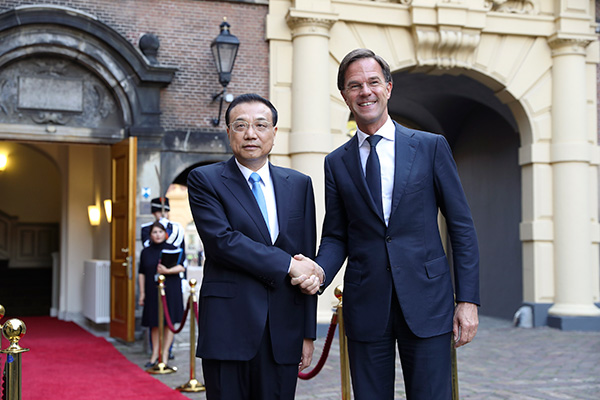 Premier Li greeted with grand welcome ceremony in Netherlands:null