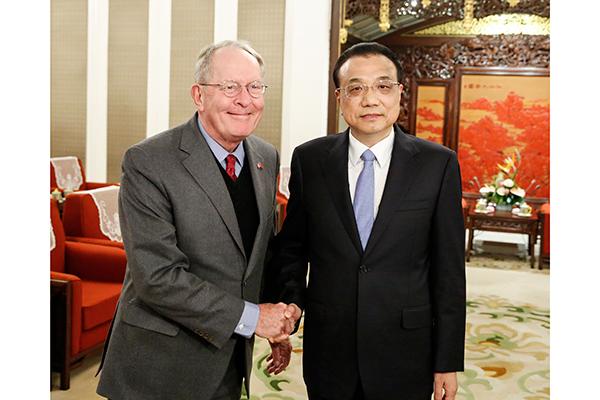 Premier Li meets US Congress delegation:null