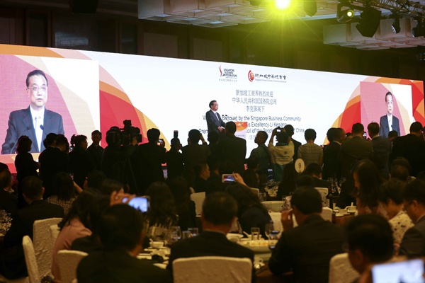 Premier addresses Singapore banquet 'from the heart' :null