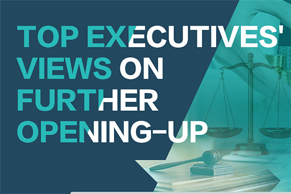 Top executives' views on further opening-up:null