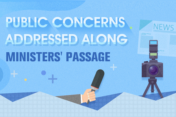Public concerns addressed along ministers' passage:null