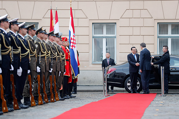 Croatian PM welcomes Premier Li:null