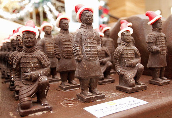 Chocolate army for Christmas:null
