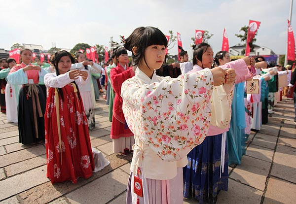 Students promote Han dynasty culture:null