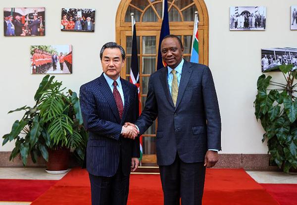 Wang Yi meets Kenyan President Uhuru Kenyatta:null