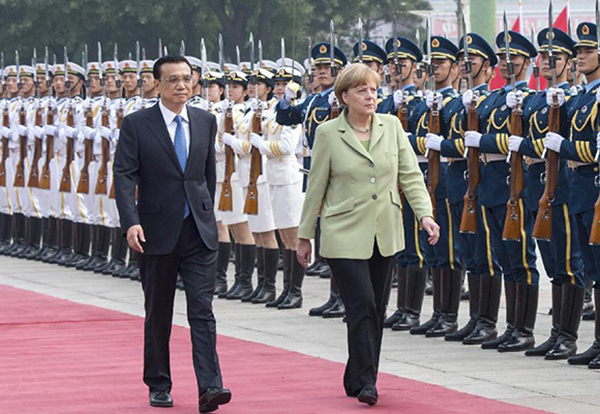 German Chancellor meets Premier Li, major deals signed:null