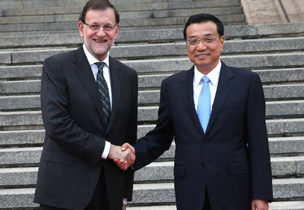 Premier welcomes Spanish PM Rajoy:null