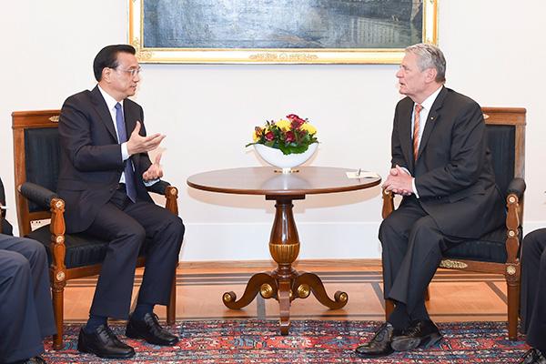 Premier Li meets with German President Joachim Gauck:null