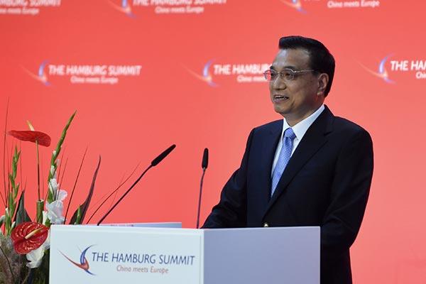 Premier delivers  speech at Hamburg Summit:null
