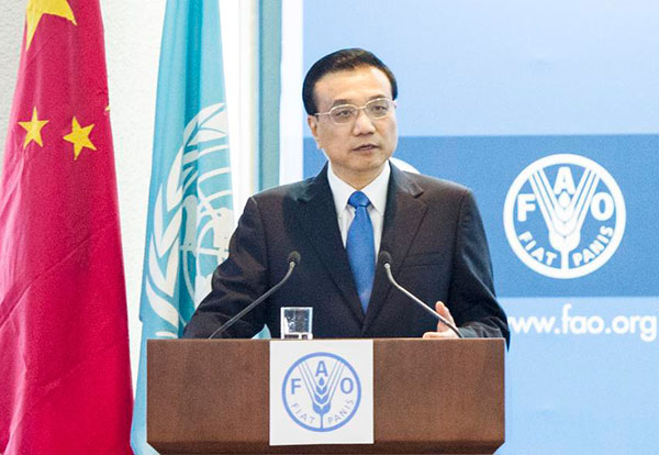 China to donate $50m to FAO:null