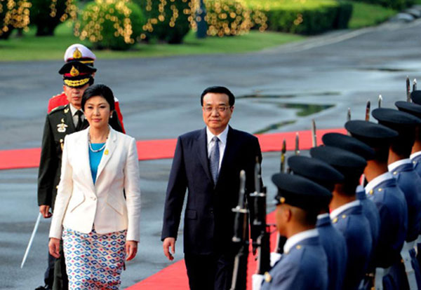 Premier Li Keqiang meets Thai PM in Bangkok:null