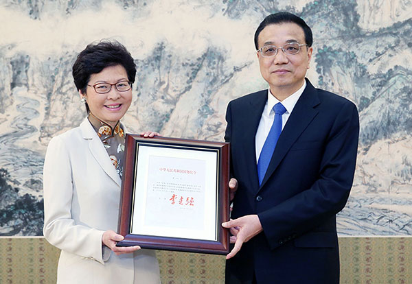 Premier Li appoints Lam as fifth HKSAR chief executive:null