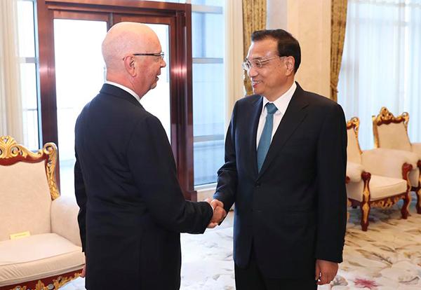Premier Li meets WEF founder Schwab ahead of Summer Davos:null