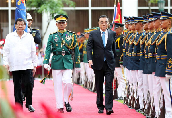 Premier Li meets with political leaders in Manila:null