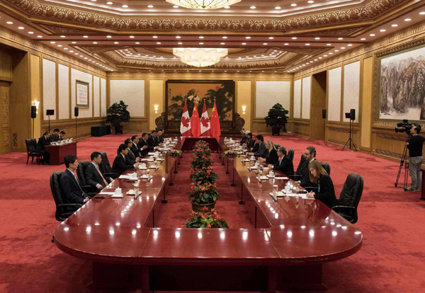 Premier Li's meeting with Canada's Trudeau focused on trade:null