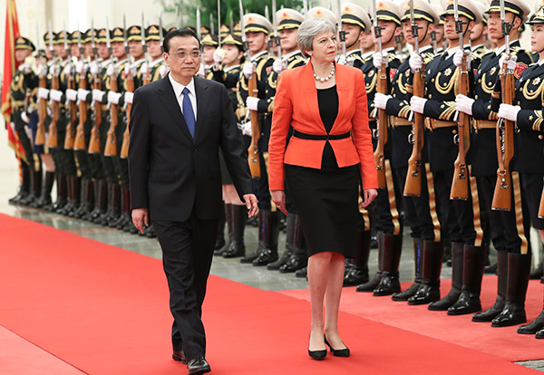 Premier Li meets with British PM:null