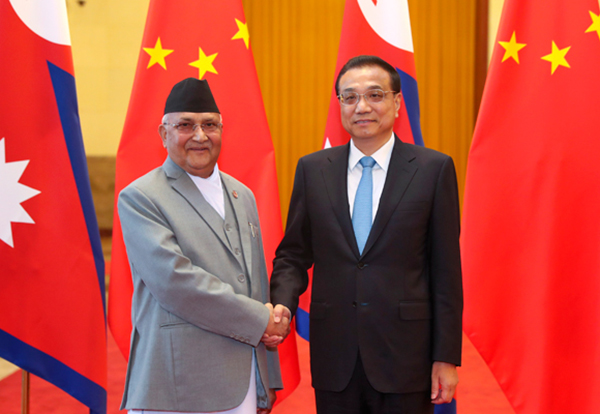 Premier Li meets with Nepal PM:null