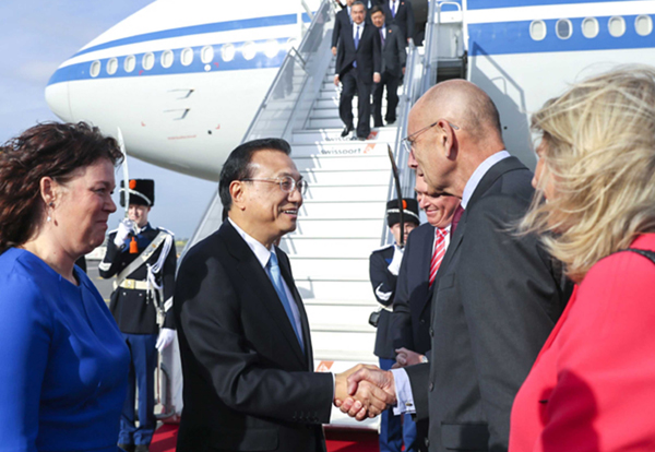 Premier Li arrives in Netherlands for official visit:null