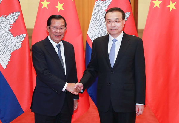 Premier Li encourages Chinese enterprises to invest in Cambodia:null