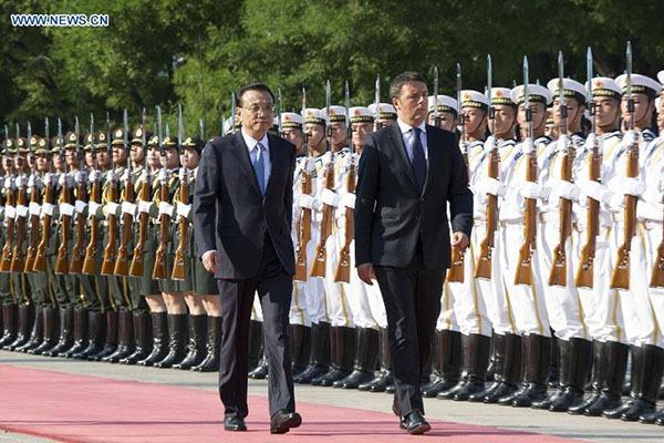 Premier meets Italian PM in Beijing:null