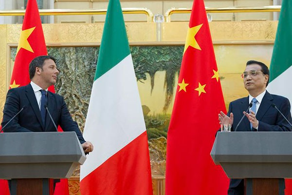 China, Italy map out three-year cooperation plan:null