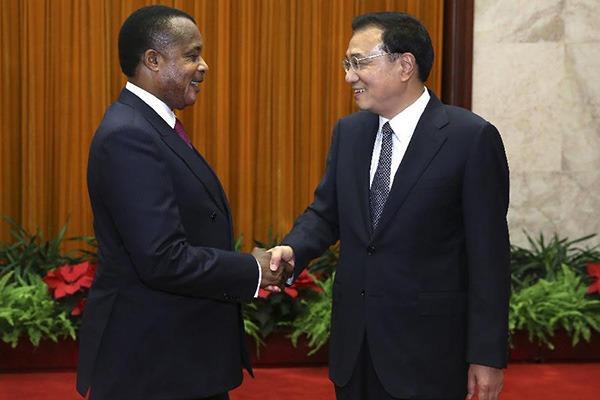 Premier meets president of Republic of Congo in Beijing:null