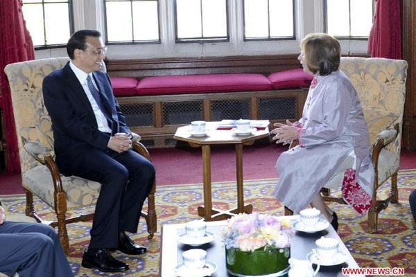 Parliamentary communication important to China-Britain ties: Premier Li:null