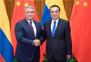 Premier Li meets with Colombian president:1