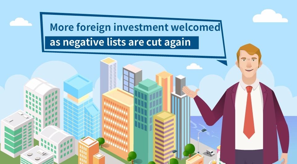 More foreign investment welcomed as negative lists are cut again:3
