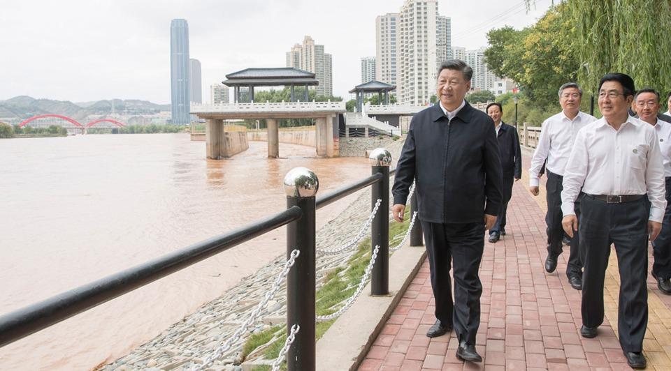 Xi makes inspection tour in Lanzhou, Gansu:0
