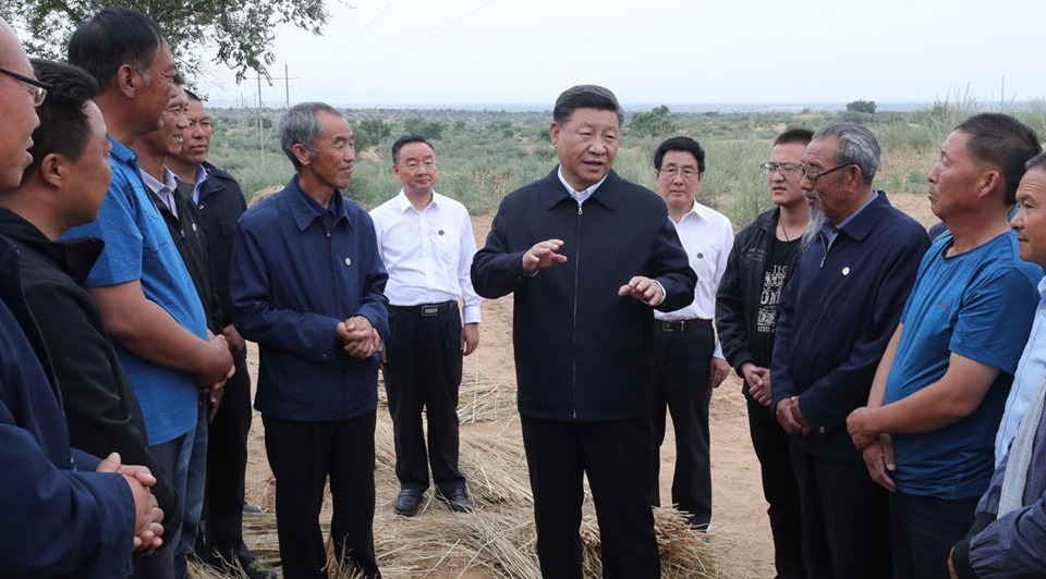 Xi makes inspection tour in Lanzhou, Gansu:0