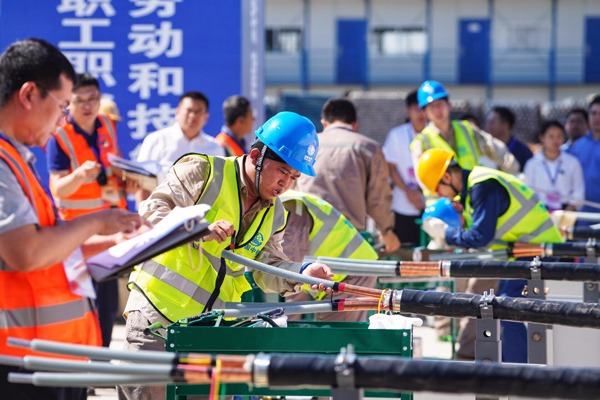 Occupational skills competition kicks off in Xiongan New Area, China's Hebei:null