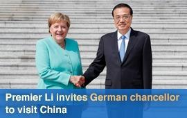Premier Li invites German chancellor to visit China:0