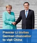 Premier Li invites German chancellor to visit China