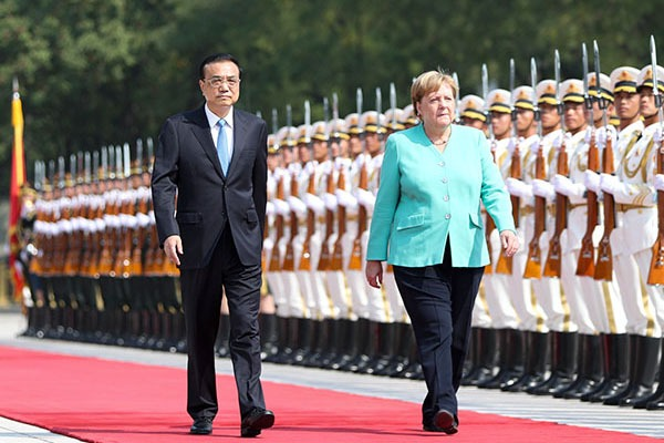 Premier Li holds ceremony to welcome German chancellor:null