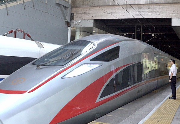 Bullet trains link city center with Daxing International Airport:0