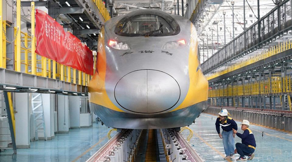 Beijing-Zhangjiakou high-speed railway starts debugging:3