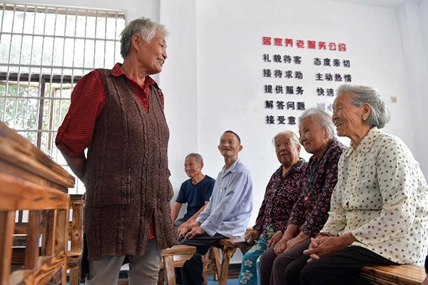 Free meals offered to rural senior residents in nursing home in China's Jiangxi:null