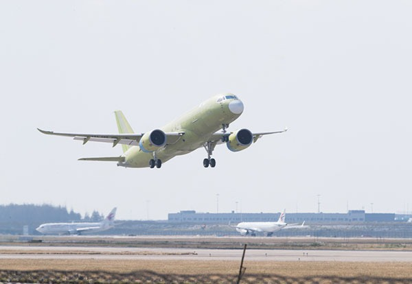 5th C919 prototype completes its maiden test flight successfully:null