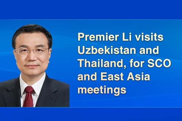 Premier Li visits Uzbekistan and Thailand, for SCO and East Asia meetings:0