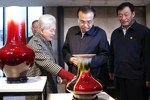 Premier Li expresses hopes for porcelain capital Jingdezhen:null