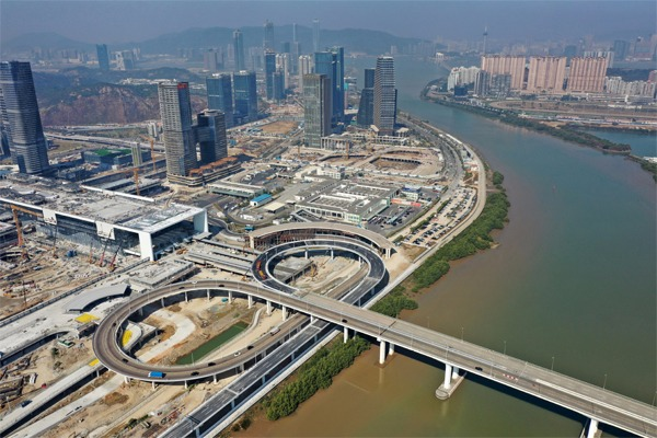 Hengqin Port under construction in China's Guangdong:null