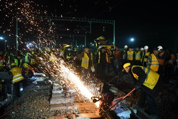 Feidong railway station in China's Anhui undergoing transformation:null